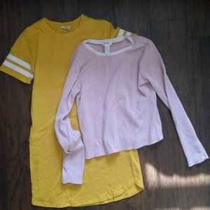 Forever 21 girls tshirt dress and long sleeve!